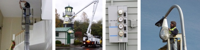 The Repair Works | Electrician | Parking Lot Lighting | Commercial Electrical Lighting