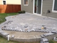 Patio with Pavers by Archterra Landscaping