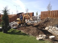 retaining wall for landscaping by Archterra Landscaping